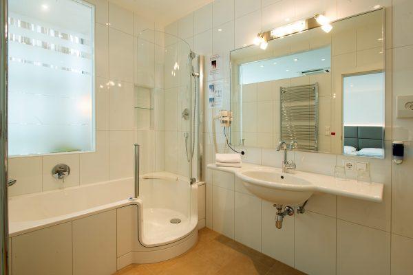 Komfortables Badezimmer im Klassik Zimmer